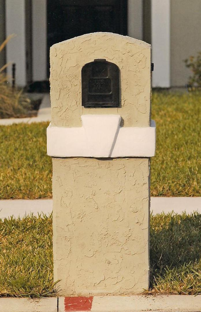 Stucco Mailboxes